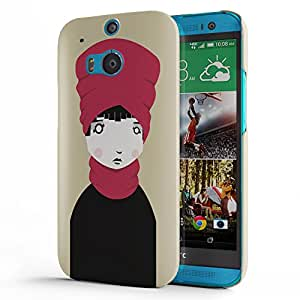 Koveru Designer Printed Protective Snap-On Durable Plastic Back Shell Case Cover for HTC One M8 - Strawberry Texture