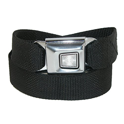Buckle Down Unisex Plain Seatbelt Buckle Adjustable Belt, Black
