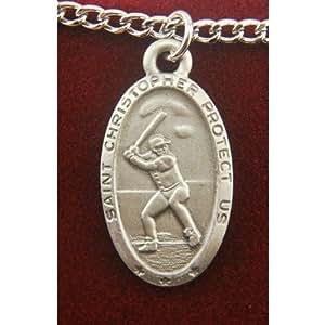 Pewter St. Christopher Medal - Baseball