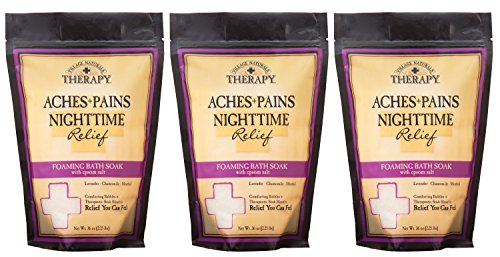 Village Naturals Therapy Aches and Pains Nighttime Relief Foaming Bath Soak 36 Oz. 3 Pack