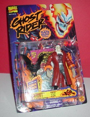 "Ghost Rider: Blackout, 5"" Poseable Action Figure with Vampire Attack Action and Glow-in-the-Dark Feature - 1"