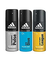 Adidas Dynamic Pulse, ice dive & victory league Deodorant for Men- (150 ml each)