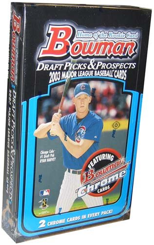 2003 Bowman Draft Picks & Prospects Baseball Hobby Box (24 packs/box)