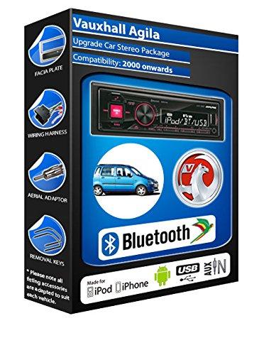 Vauxhall Agila autoradio Alpine UTE 72BT mains-libres Bluetooth pour autoradio stéréo