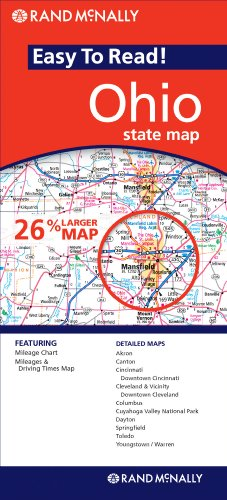 Rand McNally Easy to Read! Ohio State Map