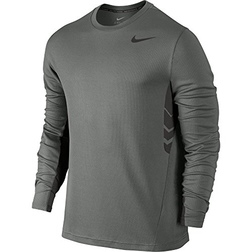New Nike Men's Vapor Dri-FIT L/S Shirt Tumbled Grey/Deep Pewter Large (Nike Vapor Shirt compare prices)