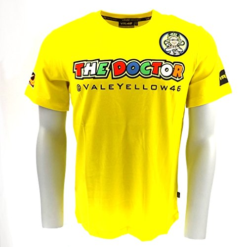 New Official Valentino Rossi 46 The Doctor T-Shirt Yellow Moto Gp