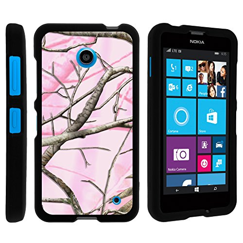 Nokia Lumia 635 Case, Perfect Fit Cell Phone Case Hard Cover with Cute Design Patterns for Nokia Lumia 635 (AT&T, Sprint, T Mobile, Virgin Mobile, Boost Mobile, MetroPCS) from MINITURTLE | Includes Clear Screen Protector and Stylus Pen - Pink Hunter Camouflage (Nokia Lumia 635 Boost Mobile compare prices)