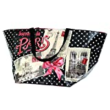 Large French Zipped Tote Bag - Souvenir De Paris - 26.5