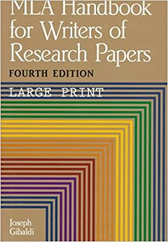mla handbook for writers of research papers 5th ed