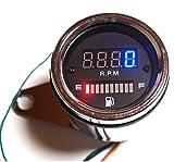 デジタル タコメーター 12V 回転計 燃料計 4スト フューエルメーター バイク オートバイ 汎用