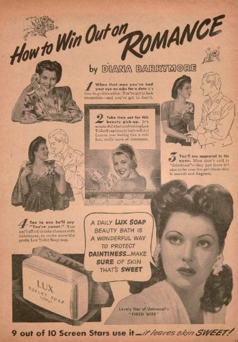 Diana Barrymore Lux Ad Clipping Magazine Photo Orig 1Pg 8X10 L8393