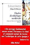 echange, troc Edgar de Bruyne - Etudes d'esthétique médiévale, tome 1