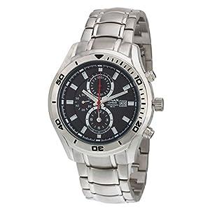 OMAX Men's Chronograph Silver Watch Black