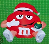 Red M&M xmas 5 Ft. high Airblown Inflatable