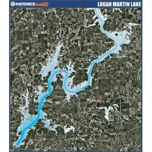 Amazon Com Navionics Paper Map Logan Martin Lake