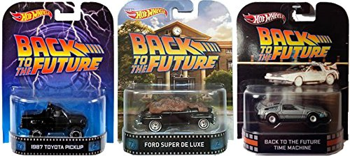 Hot Wheels Retro Entertainment Back to the Future Collection Delorean Time Machine, 1987