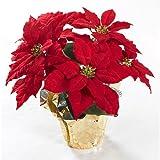 Brighten the Season Artificial Poinsettia Plant