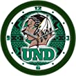 "North Dakota Fighting Sioux Suntime 12"" Dimension Glass Crystal Wall Clock - NCAA College Athletics"