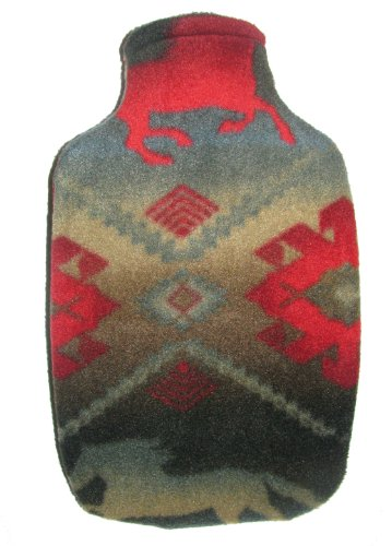 Warm Tradition Aztec Fleece Covered Hot Water Bottle - Made In Germany