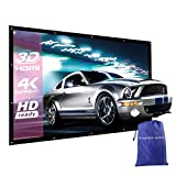 150 Inches Projector Screen NIERBO Portable Movies Screen for Mini LCD LED DLP Projector Wrinkles as Picture