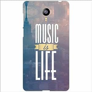 Meizu M2 Back Cover - Music Is Life Desiner Cases