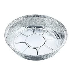 5pcs Round Disposable Aluminum Foil Containers Food Storage Pans of Bakeware-Crystallove