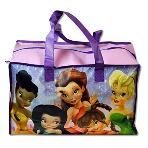 "Tinkerbell "" Fairies"" Large Non-Woven Gym Bag W/Matte Printing - 1"