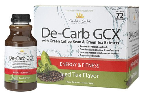 Green Coffee Bean & Green Tea Extracts Slim Fit Labs (Creation'S Garden) De-Carb Gcx Fitness Diet Exercise Weight Loss