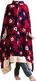 mofua モフア プレミアム マイクロファイバー 着る 毛布(ポンチョタイプ) フリー 花柄 ネイビー 50066607 ランキングお取り寄せ