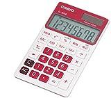 カシオ カラフル電卓 手帳タイプ 8桁 SL-300B-RD-N ルージュピンク