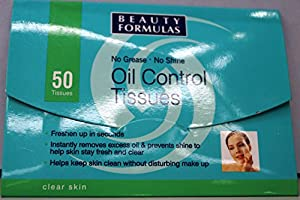 Beauty Formulas Clear Skin Oil Contr Tissue 50's