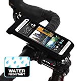 BM WORKS Slim3 R Water Resistant Smartphone Bike Mount Large Size - Bicycle Phone Case Holder for iPhone 6+, 6, 5S, 5C, 5, 4S, 4, Samsung Galaxy S5, S4, Note 4, 3, 2, Nexus 5, 4, HTC Desire Eye, One (M8), Desire 820, Desire 816, One Mini, Desire 320, Desire 510, Sensation XL, Incredible S, Motorola Droid Turbo, Droid Ultra, Droid Maxx, Droid Mini, Moto E, Moto G, Moto X, RAZR Maxx