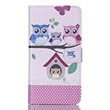 buy Galaxy S6 Edge Plus Case, Easytop Fashion Style Premium Pu Leather Wallet Flable Stand Flip Protective Cover Case With Built-In Card Slots Cash Pocket Magnetic Closure (Owl Family)