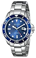 SO&CO York Men's 5042.2 Yacht Club Analog Display Japanese Quartz Silver Watch by SO&CO New York