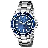Reloj de pulsera SO&CO New York Men's 5042.2 Yacht Club con fondo azul.