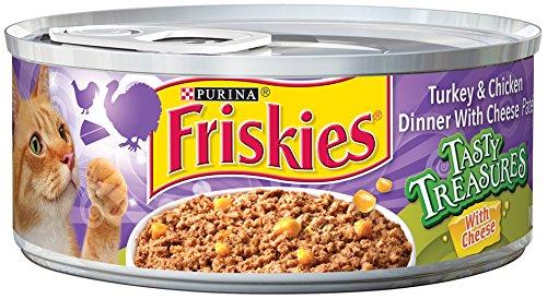 Friskies Tasty Treasures Turkey & Chicken Dinner With Cheese