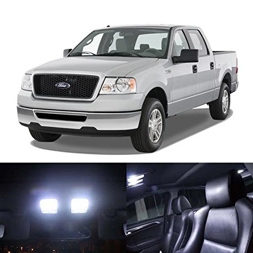 Partsam Ford F 150 Supercab 2004 2005 2006 2007 2008 White Interior Led Light Package Kit 5 Pieces