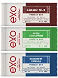 Exo Cricket Flour Protein Bars - 3 Flavor Sampler Pack