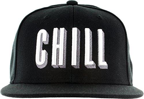 Snapback-Netflix-Chill-Hat-Embroidered-Adjustable-Black-White-Baseball-Cap