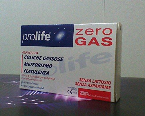 Prolife Zero Gas - 80 mg Simeticone con Fermenti Lattici Vivi - 45 Cps
