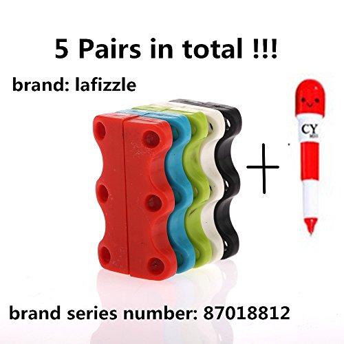 5 ACCOPPIAMENTI 5 Colore magnetica scarpe Chiusure - Mai Tie Laces Again! dimensione adulta