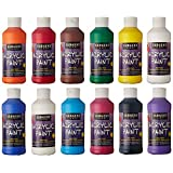 Sargent Art 22-2399 8-Ounce Acrylic Paint, 12 Piece Set