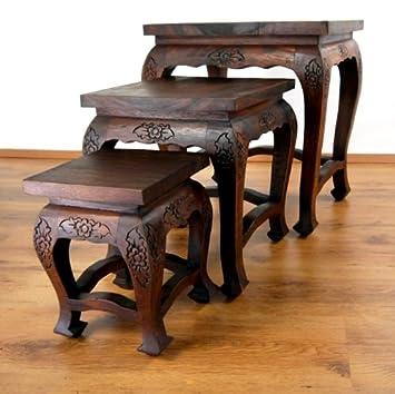 hoher opiumtisch bzw beistelltisch im 3er set asiatische. Black Bedroom Furniture Sets. Home Design Ideas