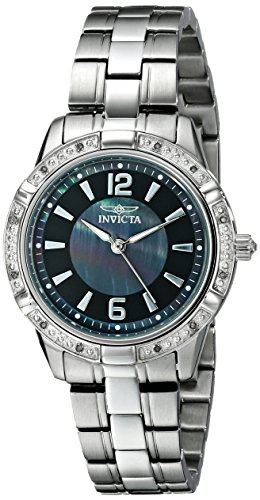 """Invicta Women's 18033 """"Angel"""" Diamond-Accented Stainless Steel Watch"""