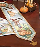 SCARECROW TAPESTRY RUNNER 72 Halloween Fall Autumn Thanksgiving Table Decor Brand NEw