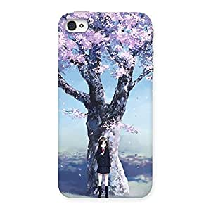 Unicovers Cherry Blossom Girl Back Case Cover for iPhone 4 4s