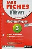 Mes Fiches ABC du BREVET Mathématiques 3e...
