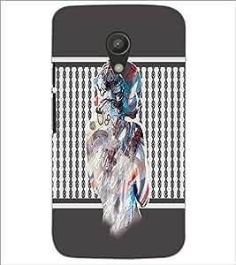 PrintDhaba Mysterious Girl D-2710 Back Case Cover for MOTOROLA MOTO G2 (Multi-Coloured)