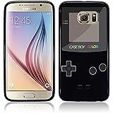 Etui de créateur pour Samsung Galaxy S6 - Etui / Coque / Housse de protection noir en TPU/gel/silicone avec motif cool gameboy couleur